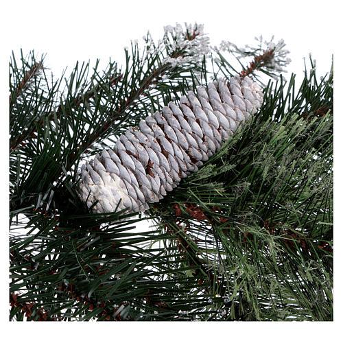 Albero di Natale 225 cm verde con glitter e pigne Bristle 6