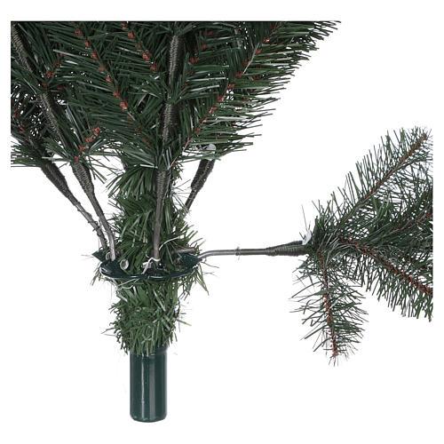 Albero di Natale 225 cm verde con glitter e pigne Bristle 7