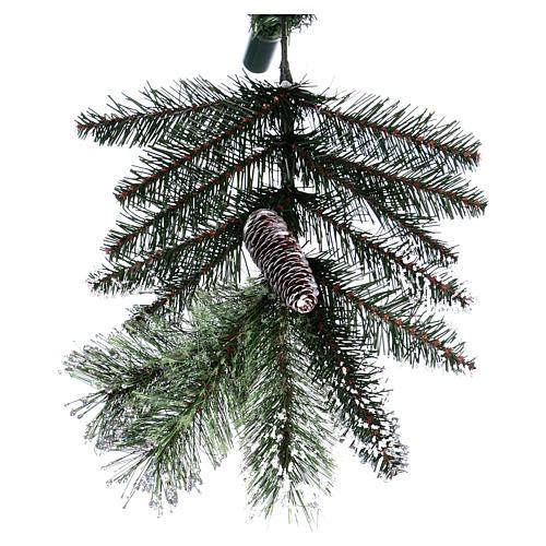 Albero di Natale 225 cm verde con glitter e pigne Bristle 9