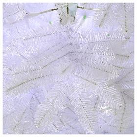 Sapin Noël 210 cm Slim couleur blanc Dunhill s3