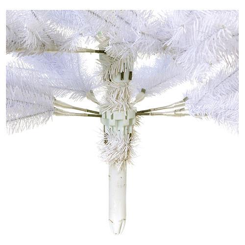 Sapin Noël 210 cm Slim couleur blanc Dunhill 5