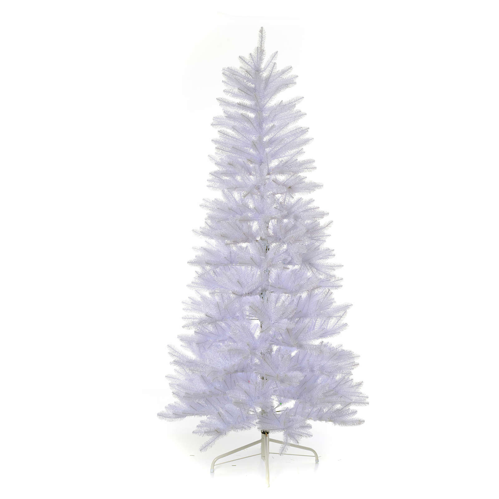 white slimline christmas tree