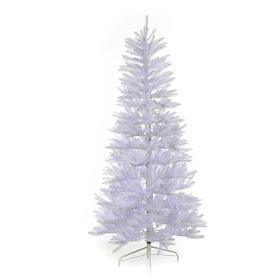 Albero di Natale 225 cm Slim bianco Dunhill s1