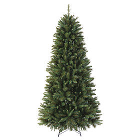 Sapin Noël 180 cm Slim vert pvc Rocky Ridge s1