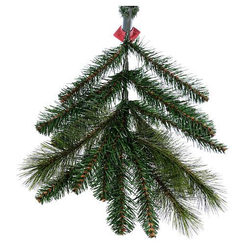 Albero di Natale 210 cm verde pvc Slim Rocky Ridge 6
