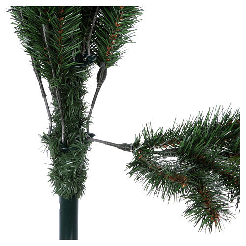 Albero di Natale 225 cm pvc verde Slim Rocky Ridge 5