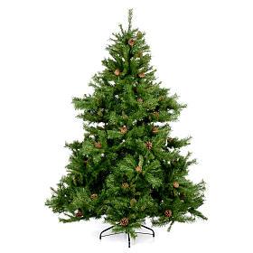 Arbol de Navidad 180cm verde con piñas Praga s1