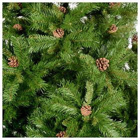 Arbol de Navidad 180cm verde con piñas Praga s2
