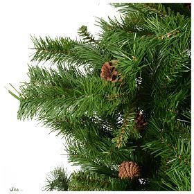 Arbol de Navidad 180cm verde con piñas Praga s3