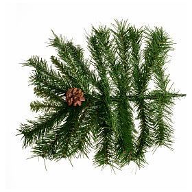 Arbol de Navidad 180cm verde con piñas Praga s4