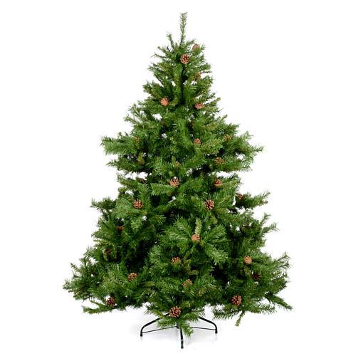 Arbol de Navidad 180cm verde con piñas Praga 1