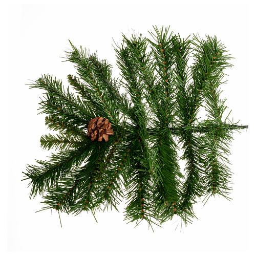 Arbol de Navidad 180cm verde con piñas Praga 4