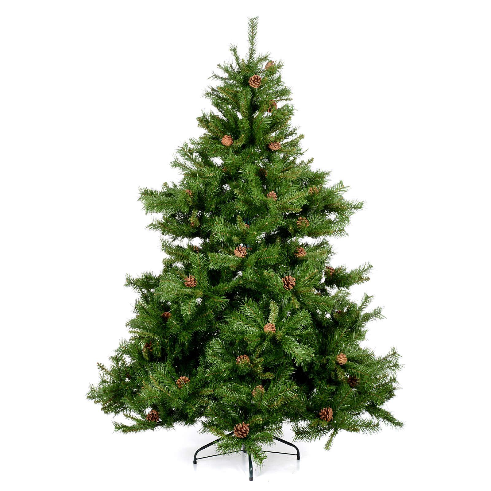 Albero di Natale verde pigne 210 cm Praga 3