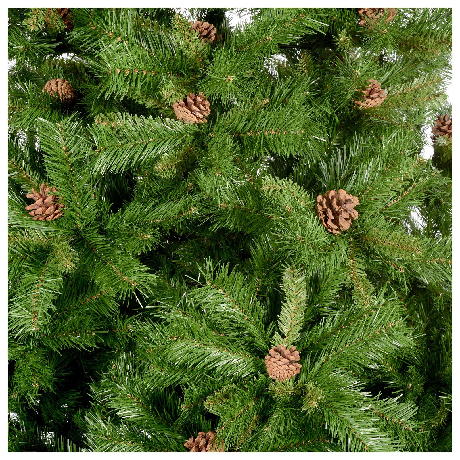 Arbol de Navidad verde con piñas Praga 3