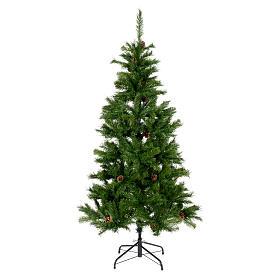 Sapin de Noël 210 cm couleur vert Slim Tallin s1