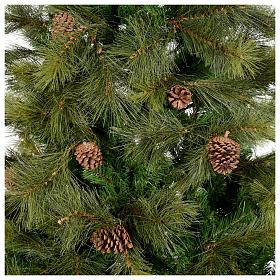 Albero di Natale 210 cm verde con pigne Innsbruck s2