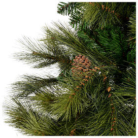 Albero di Natale 210 cm verde con pigne Innsbruck s3