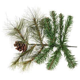 Albero di Natale 210 cm verde con pigne Innsbruck s4