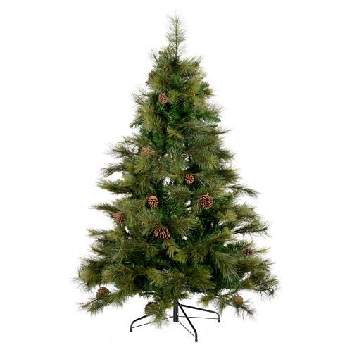 Albero di Natale 210 cm verde con pigne Innsbruck 1