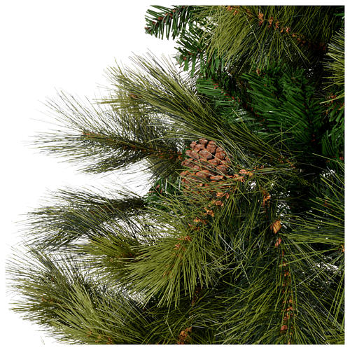 Albero di Natale 210 cm verde con pigne Innsbruck 3