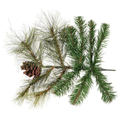 Albero di Natale 210 cm verde con pigne Innsbruck 4