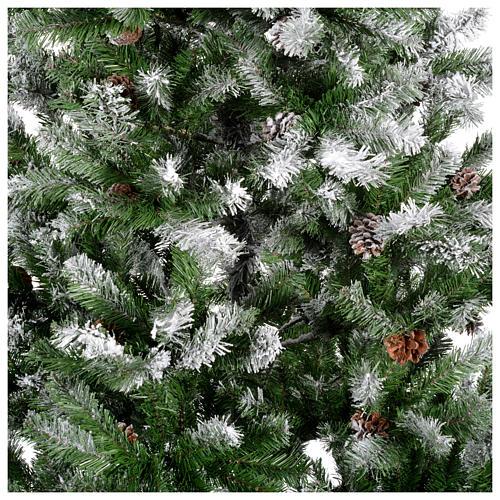 Albero di Natale 210 cm floccato pigne Oslo 2