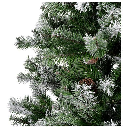 Albero di Natale 210 cm floccato pigne Oslo 3