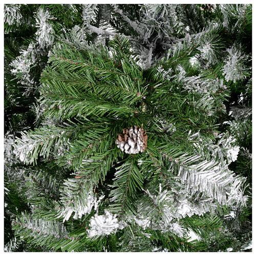 Albero di Natale 210 cm floccato pigne Oslo 4