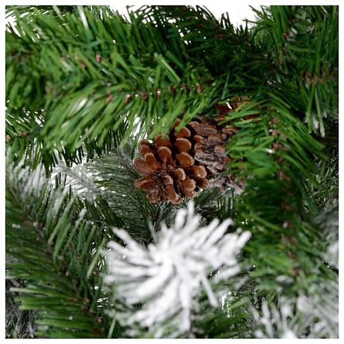 Albero di Natale 210 cm floccato pigne Oslo 5