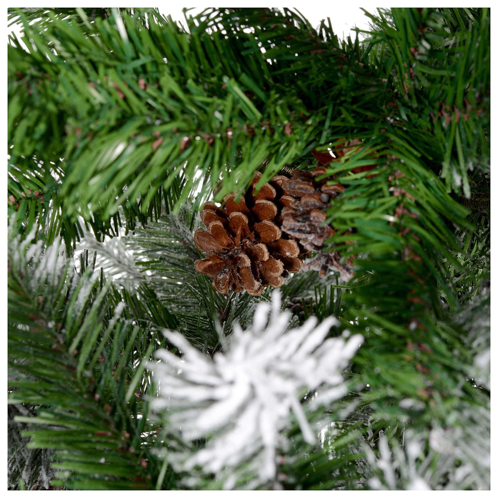 christmas tree 230 cm flocked with pine cones oslo 3 - Christmas Tree With Pine Cones