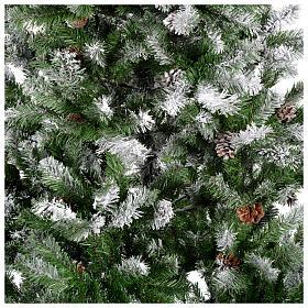 Albero di Natale 270 cm floccato pigne Oslo s2