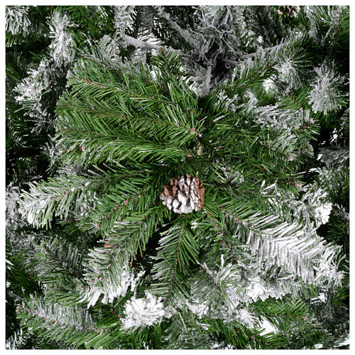 Albero di Natale 270 cm floccato pigne Oslo 4