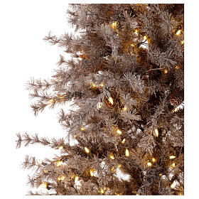 Christmas tree antique brown 200 cm with frost and pines 300 leds s3