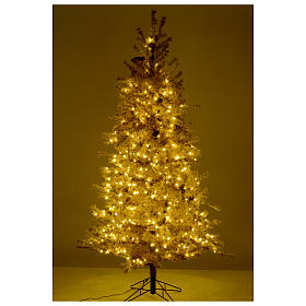 Christmas tree antique brown 200 cm with frost and pines 300 leds s5