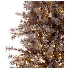 Árbol de Navidad marrón antiguo 200 cm escarchado con piñas y 300 luces LED s3