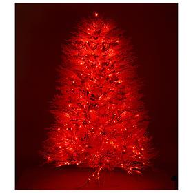Albero di Natale innevato bianco 210 cm cm luci rosse led 700 Winter G. s5