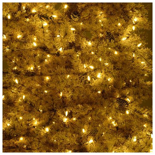 Sapin Noël marron 270 cm givré pommes pin lumières 700 Victorian Brown 6