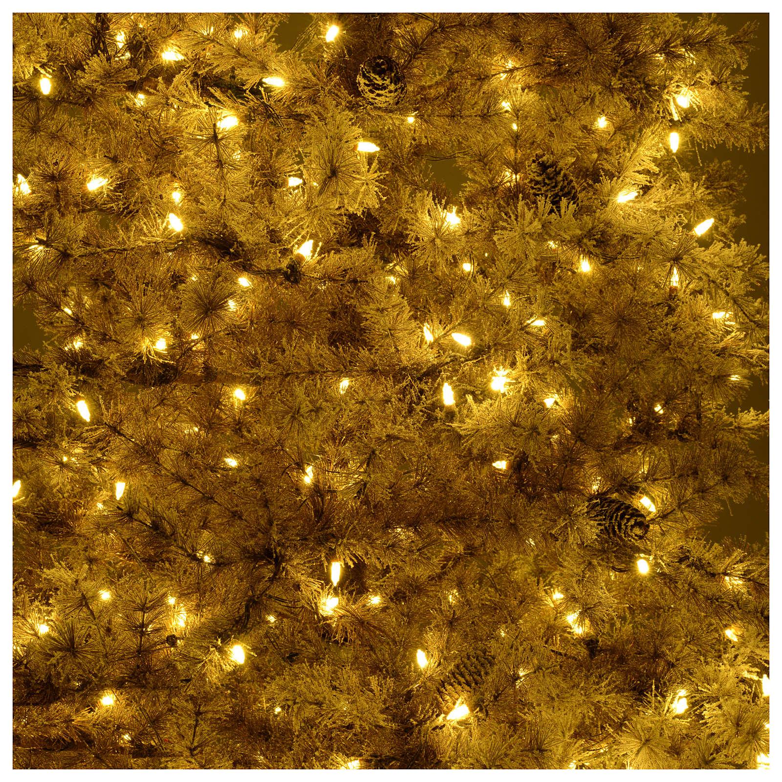 Albero di Natale marrone 270 cm brinato pigne e luci led 700 Victorian B. 3