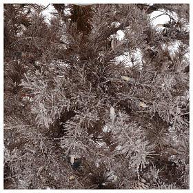 Albero di Natale marrone 270 cm brinato pigne e luci led 700 s4