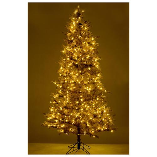 Albero di Natale marrone 270 cm brinato pigne e luci led 700 Victorian B. 5