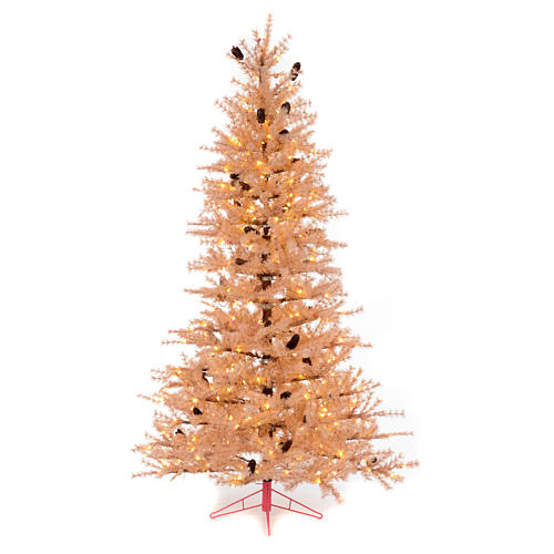 Christmas Tree Antique Pink 230 Cm With Pines And 400 Led Online