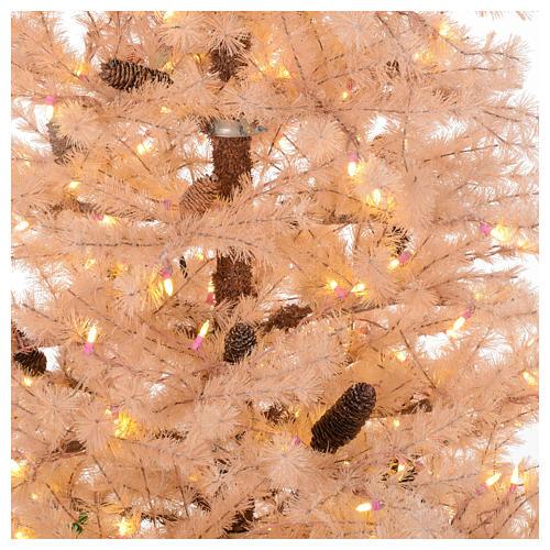 Albero di Natale rosa antico 230 cm pigne 400 luci led 2