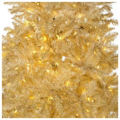 Árbol de Navidad 340 cm márfil 1600 luces LED purpurina oro 2