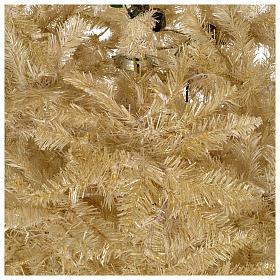 Albero di Natale 340 cm avorio 1600 luci led glitter oro s4