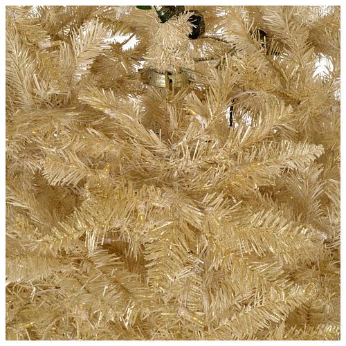 Albero di Natale 340 cm avorio 1600 luci led glitter oro 4