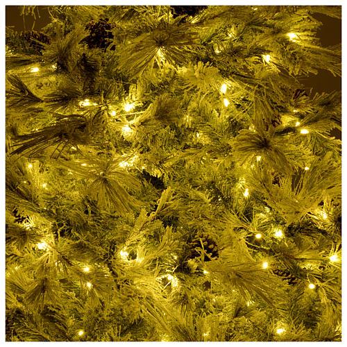 Árbol de Navidad marrón 230 cm escarchado piñas y purpurina 450 luces LED modelo Frosted Forest 6