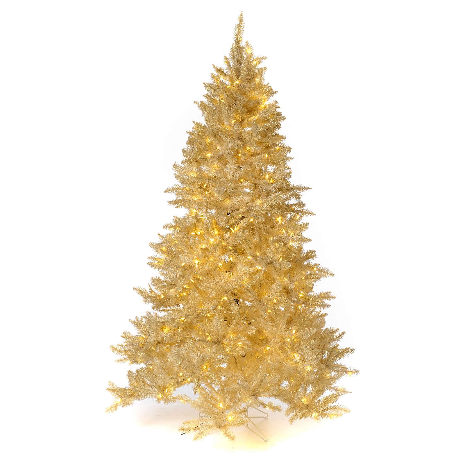 Immagini Natale Oro.Albero Di Natale 200 Cm Avorio 400 Luci Led Glitter Oro Regal Ivory