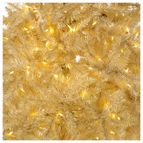 Albero di Natale 200 cm avorio 400 luci led glitter oro Regal Ivory 2