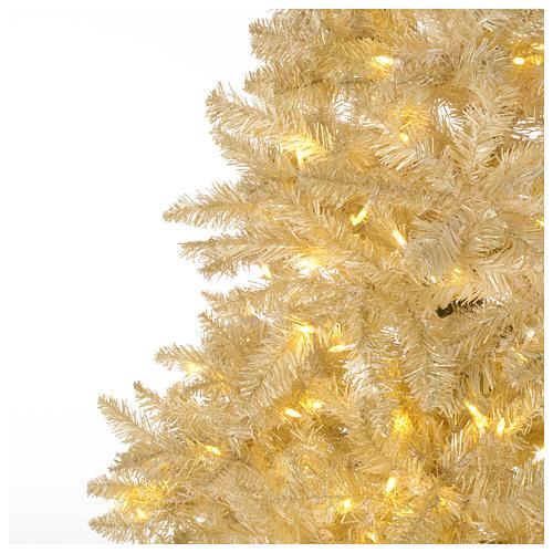 Albero di Natale 200 cm avorio 400 luci led glitter oro Regal Ivory 3
