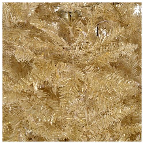 Albero di Natale 200 cm avorio 400 luci led glitter oro Regal Ivory 4